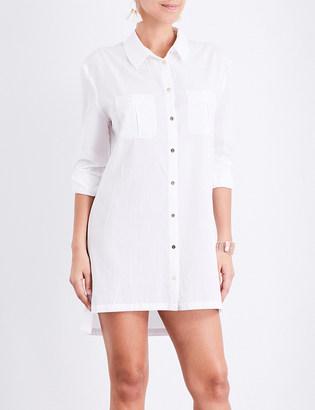 Heidi Klein Maine oversized woven shirt dress $147 thestylecure.com