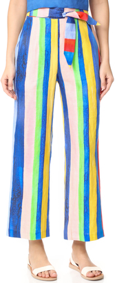 Mara Hoffman High Waisted Tie Front Pants $295 thestylecure.com