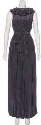 AllSaints Ruffle-Accented Maxi Dress