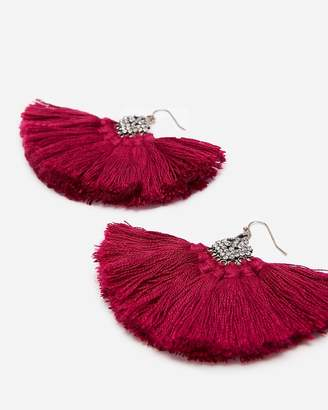 Express Rhinestone Tassel Drop Earrings