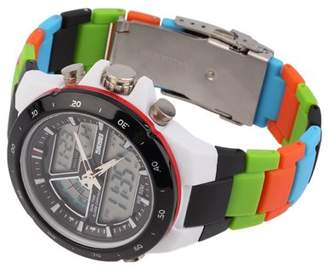 Cocasasa Men's Dual Time Zones Analog Waterproof Luminous Wrist Watch