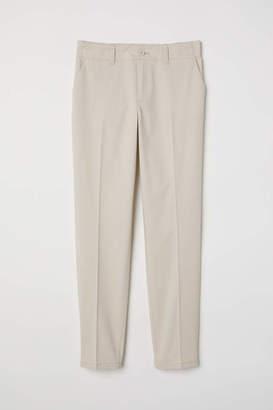 H&M Cotton Chinos - White/blue striped - Women