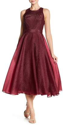 Nicole Miller Back Zip Solid Dress
