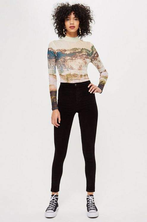 Black Corduroy Joni Jeans