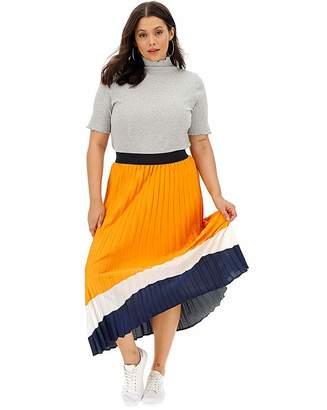 Fashion World Border Print Sunray Pleat Maxi Skirt
