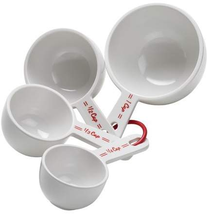 Cake Boss Countertop Accessories 4 pc Melamine Measuring Cup Set, Bistro Pattern