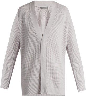 VINCE V-neck wool and cashmere-blend cardigan $385 thestylecure.com