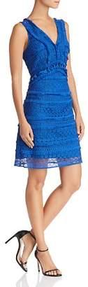 Sam Edelman Sleeveless Tassel-Trim Lace Dress