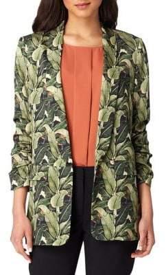 Tahari Arthur S. Levine Petite Floral Leaf Jacket