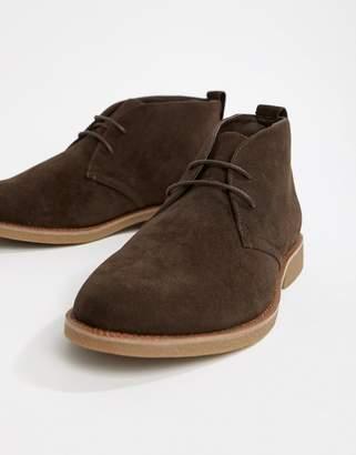 New Look faux suede desert shoe in brown
