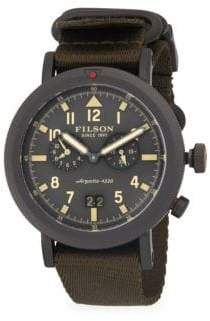 Filson Scout Dual-Time Stainless Steel Strap Watch