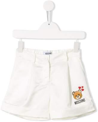 Moschino Kids pleated logo shirts