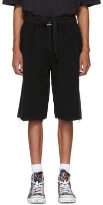 Vetements Black Oversized Inside-Out Sweat Shorts