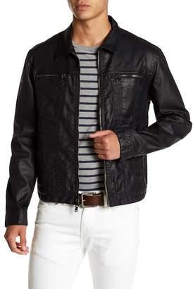 John Varvatos Collection Black Coated Indigo Denim Jacket