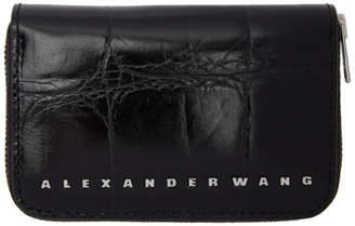Alexander Wang Black Croc Dime Compact Wallet