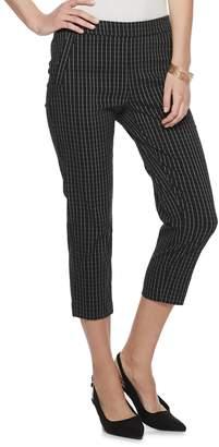 Elle Women's Twill Pull-On Capri Pants