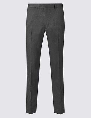 Marks and Spencer Grey Modern Slim Fit Trousers