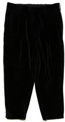 Kolor Velvet Zip Accented Pants green Velvet Zip Accented Pants