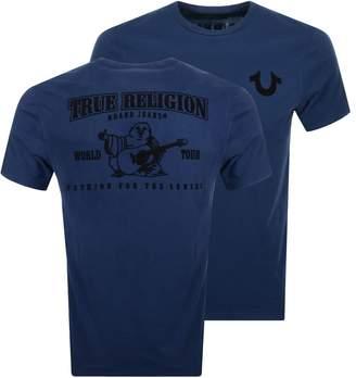 True Religion Buddha Logo T Shirt Blue