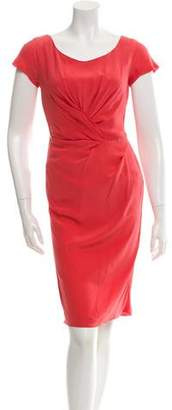 Alberta Ferretti Cap Sleeve Knee-Length Dress