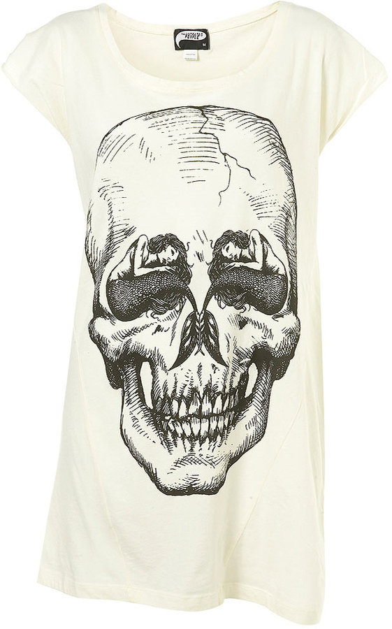 Mermaid Skull Long T-Shirt by illustrated people**