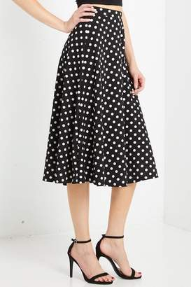 Soprano Black/white Polka-Dot Skirt