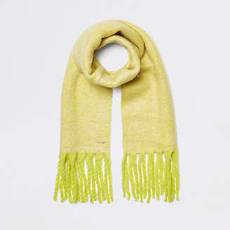 River Island Womens Fluorescent Yellow marl fluffy scarf