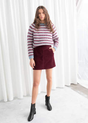 And other stories A-Line Cord Mini Skirt
