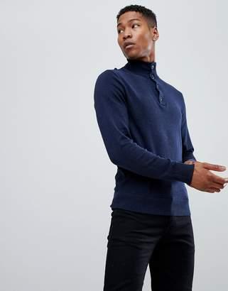 Tommy Hilfiger Cashmere Half Zip Sweater