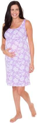 Baby Be Mine Maternity Nursing Nightgown - Sleeveless ( pre pregnancy 12-14, )