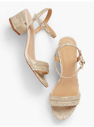 Talbots Mimi Luxe Exotic Block-Heel Sandals