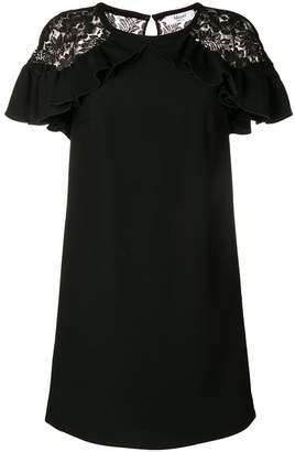 Blugirl lace sleeve ruffle dress