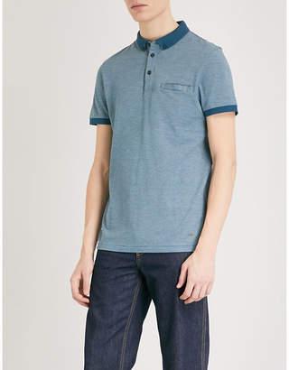 BOSS ORANGE Cotton-piqué polo shirt