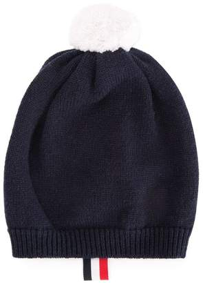 Thom Browne Kids cashmere classic beanie