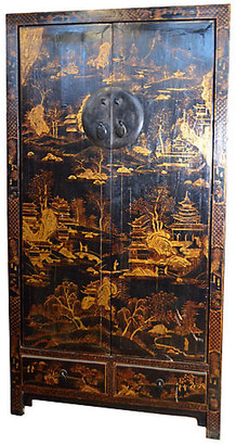 One Kings Lane Vintage Antique Hand-Painted Cabinet - FEA Home