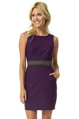 Teeze Me Juniors Sleeveless Elastic Trim Illusion Waist Dress with Pockets