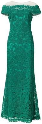 Tadashi Shoji lace off shoulder gown