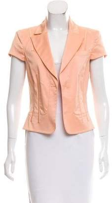 Versace Notched Lapel Short Sleeve Jacket