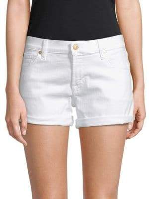 7 For All Mankind Classic Rollup Denim Shorts