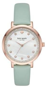 Kate Spade Monterey IP Leather-Strap Watch