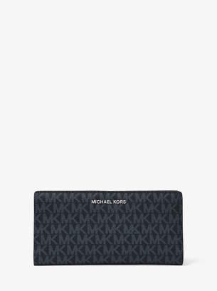 MICHAEL Michael Kors Jet Set Large Logo Slim Wallet
