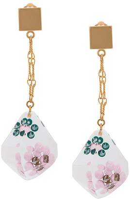 Marni suspended flower drop earrings