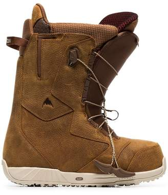 Burton Ak brown ion leather snowboard boots