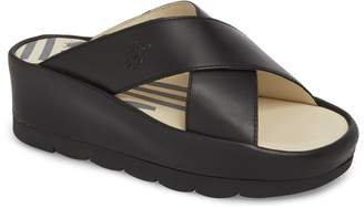 Fly London Begs Platform Slide Sandal