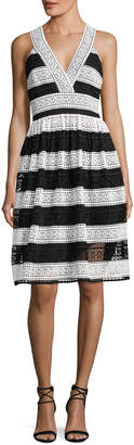 Kate Spade colorblock lace v-neck dress