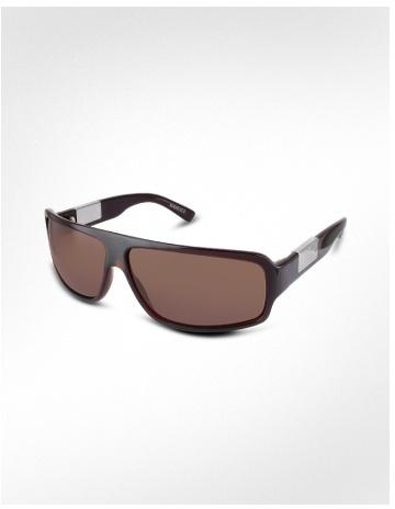 Gucci Signature Plate Plastic Rectangular Sunglasses