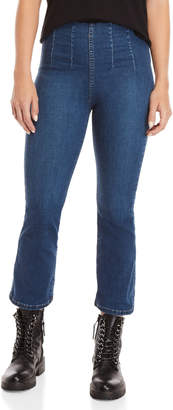 Free People Ultra-High Pull-On Crop Jeans