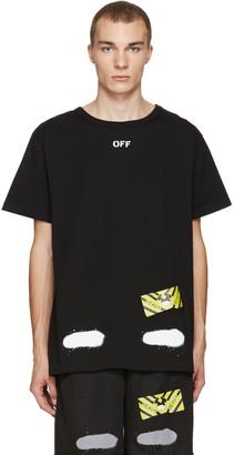 Off-White Black Diagonal Spray T-Shirt $270 thestylecure.com