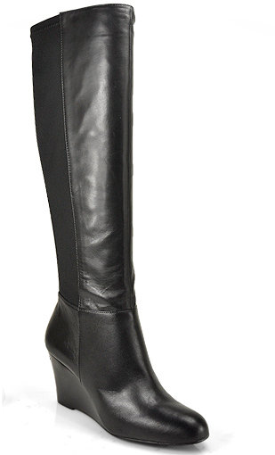 Michael by Michael Kors - Bromley - Black Leather Wedge Boot