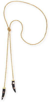 Ashley Pittman Upendo Dark Horn Lariat Necklace